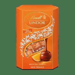 LINDOR tejcsokoládé pralinék lágyan olvadó narancsos töltelékkel 200g