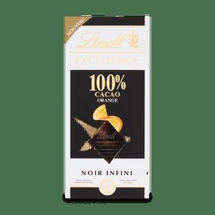 EXCELLENCE 100% Kakaótartalmú Narancsos Étcsokoládé, 50g