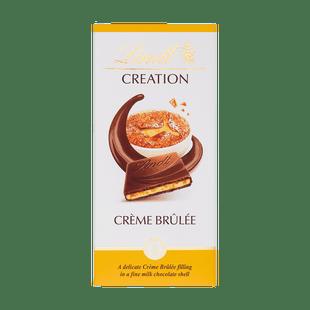 Creation Crème Brûlée ízű töltött tejcsokoládé karamellával és ropogós müzlivel 150g