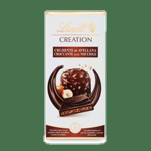Creation mandulás mogyorókrémmel töltött étcsokoládé mogyoróval 150g