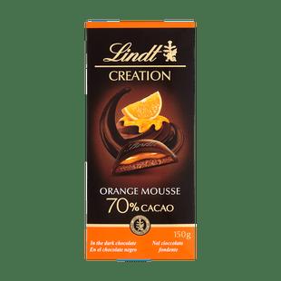 Creation csokoládéhabbal és narancskrémmel töltött étcsokoládé 150g