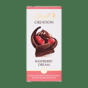 Creation málna ízű töltött étcsokoládé 150g