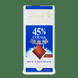 EXCELLENCE 45% kakaótartalmú tejcsokoládé 80g