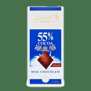 EXCELLENCE 55% kakaótartalmú tejcsokoládé 80g
