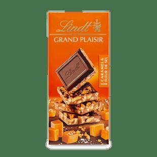 Lindt Grand Plaisir étcsokoládé karamellával és tengeri sóval 150g