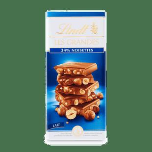 Lindt Les Grandes tejcsokoládé mogyoróval 150g