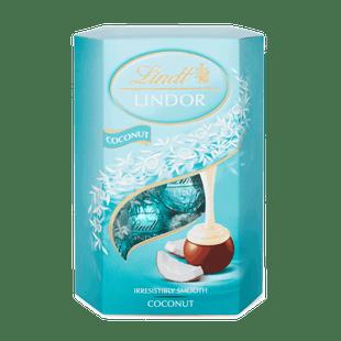 LINDOR tejcsokoládé pralinék lágyan olvadó kókuszos töltelékkel 200g