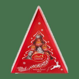 LINDOR Karácsonyfa Tejcsokoládé 125g