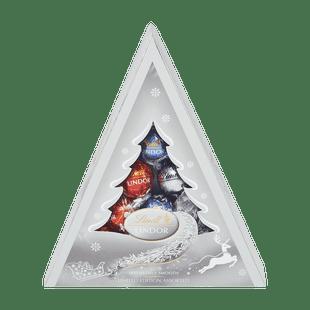 LINDOR Ezüst Karácsonyfa Csokoládé Válogatás 125g