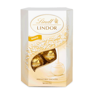 LINDOR fehércsokoládé pralinék lágyan olvadó töltelékkel 200g