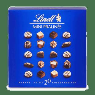 Lindt Mini Pralines töltött töltött tej-, fehér-, és étcsokoládés praliné válogatás100g